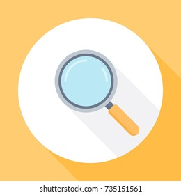 Magnifying glass. Search icon flat style. vector illustration with long shadow. Flat design style.