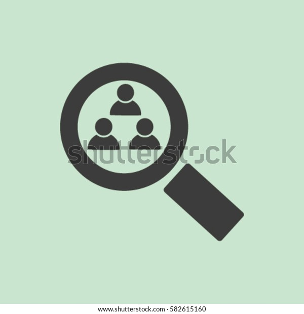Magnifying glass. Search. icon. vector design