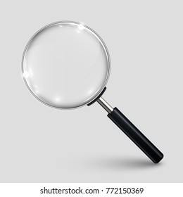 Magnifying glass – stock vector