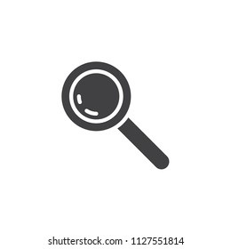 Magnifying glass vector icon. filled flat sign for mobile concept and web design. magnifier, loupe simple solid icon. Symbol, logo illustration. Pixel perfect vector graphics