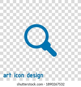 magnifying glass vector icon on an abstract background