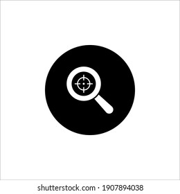 Magnifying glass vector icon or search icon on white background