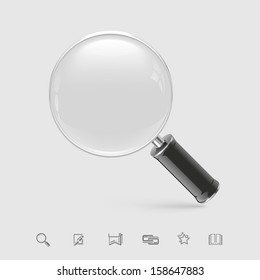magnifying glass vector icon xxl