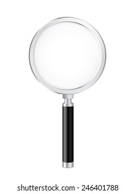 Magnifying glass vector illustration with very easy in change colors and applying