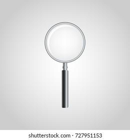 Magnifying Glass vector logo icon illustration