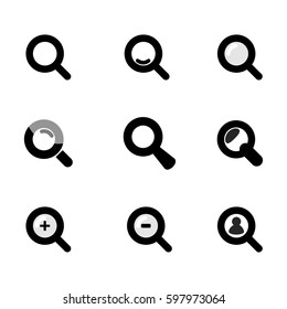 magnifying glass website and app icons.