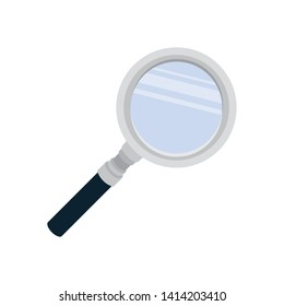 magnifying glass with white background