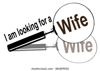 magnifying glass, wife