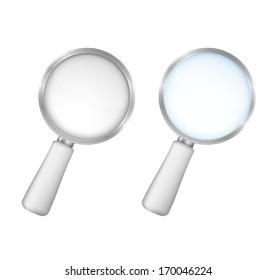 Magnifying glasses on white background, vector eps10 illustration