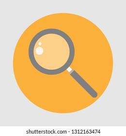 Magnifying grass icon flat design. vector illustration.