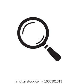 Magnifying icon. Magnify glass. Research, f ind icon vector. Lens, look magnifier, loupe sign. Linear style sign for mobile concept and web design. Search symbol illustration. vector graphics - Vector
