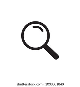 Magnifying icon. Magnify glass. Research, find icon vector. Lens, look magnifier, loupe sign. Linear style sign for mobile concept and web design. Search symbol illustration. vector graphics - Vector