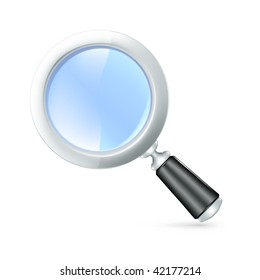 Magnifying lens, vector icon