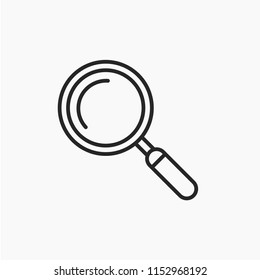 Magnifyingicon. Magnify glass. Research,find icon vector. Lens,look magnifier,loupe sign. Best modern flat pictogram illustration sign for web and mobile apps design