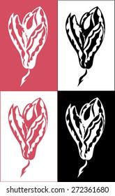 magnolia flower graphics vector illustration