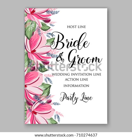 fb57f87b2 Magnolia flowers for bridal shower or wedding invitation template floral  wreath Vector