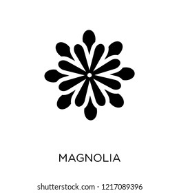 Magnolia icon. Magnolia symbol design from Nature collection. Simple element vector illustration on white background.