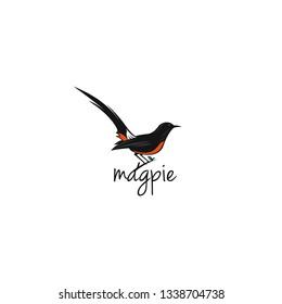 magpie bird logo template