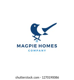 magpie homes house logo vector icon illustration