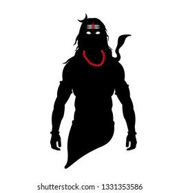 Mahadev silhouette vector design with tilak fabulous art.