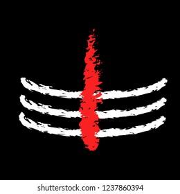 Mahadev tilak vector design art. Mahadev sign design.