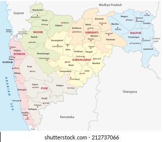 maharashtra administrative map