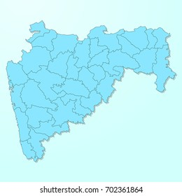 Maharashtra blue map on degraded background vector
