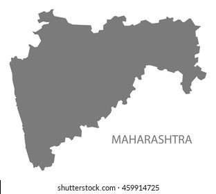 Maharashtra India Map grey