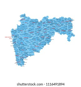 Maharashtra map graphic