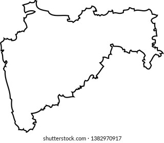 Maharashtra. Map of India. Region of India.