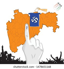 Maharashtra people Election voting with hand