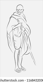 Mahatma Gandhi illustration vector image