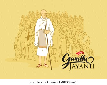 mahatma gandhi for Gandhi jayanti, great Indian freedom fighter who promoted non voilence