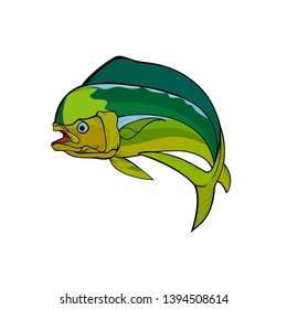 Mahi mahi fish Logo and fishing mania