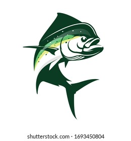 mahi mahi Fishing logo. A Unique, Fresh & Modern vector of this fish, Great for a you fishing Activity
