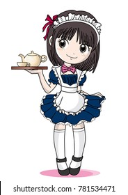 Maid Cafe girl image
