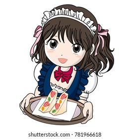 Maid Cafe girl image