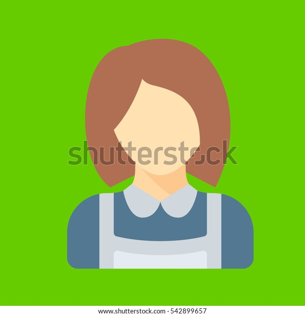 maid icon flat disign