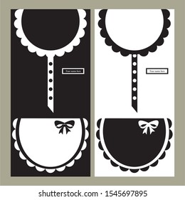 MAID UNIFORM BLACK AND WHITE VECTOR