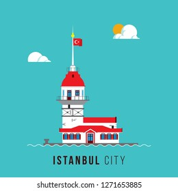 Maiden Tower, Istanbul Poster Design
