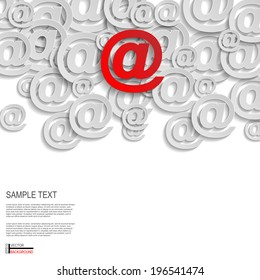 Mail Abstract Background