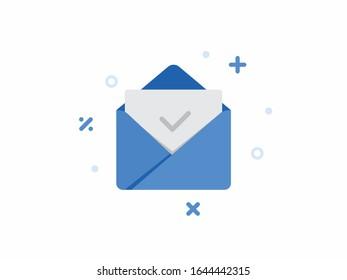 Mail App Icon, Envelope Design Illustration, Editable Iconography