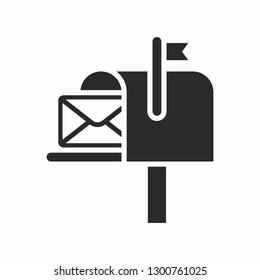 Mail box icon. Post box. PO box. Letter box.