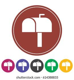 Mail box icon.Vector illustration