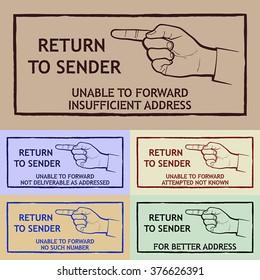 Return To Sender Images Stock Photos Vectors