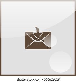 Mail down arrow. Internet button.