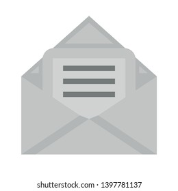 Mail download icon. Incoming Messages correspondence sign. E-mail symbol. Classic flat style. envelope incoming Mail icon. Vector