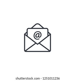 mail or email icon vector logo template