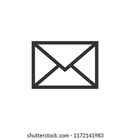 Mail envelope icon in flat style. Email message vector illustration on white isolated background. Mailbox e-mail business concept.