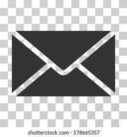 Mail Envelope icon. Vector illustration style is flat iconic symbol, gray color, transparent background. Designed for web and software interfaces.